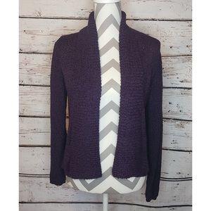 Chicos Cardigan Sweater Purple Knit Womens Size 1